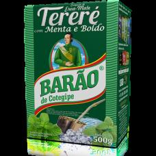 5x ERVA MATE BARÃO TERERÉ MENTA E BOLDO 500G (meia caixa)